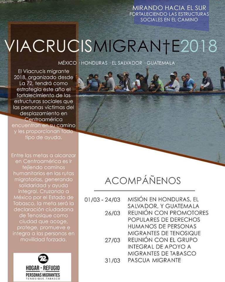 Viacrucis migrante 2018