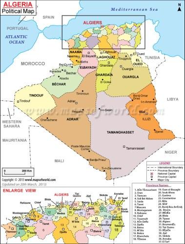 algeria-political-map