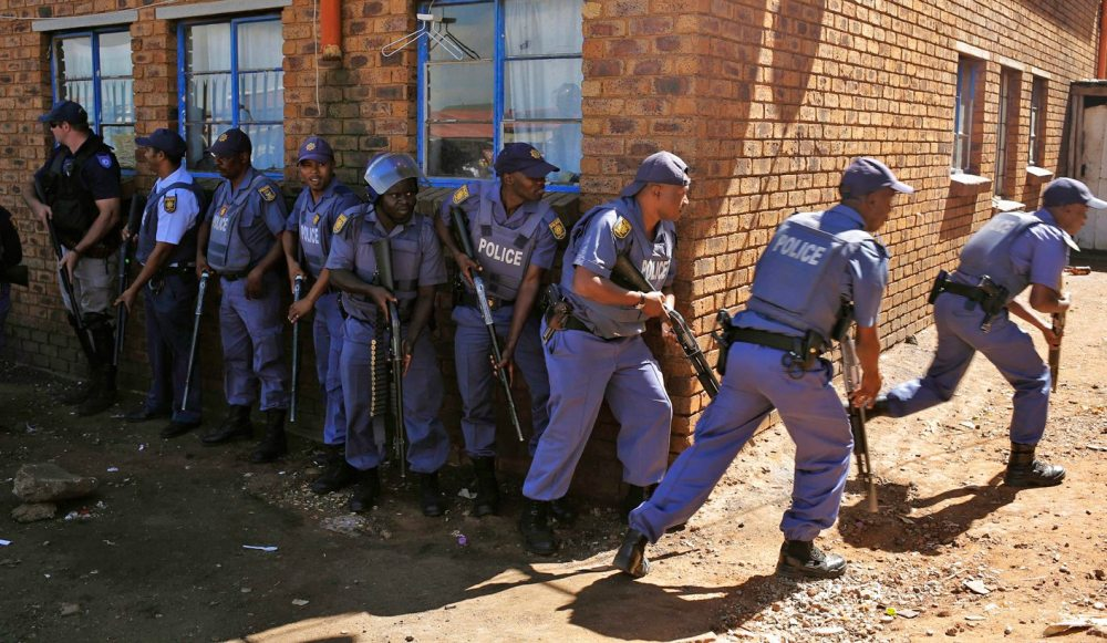 South Africa police reacts to xenophobic violence