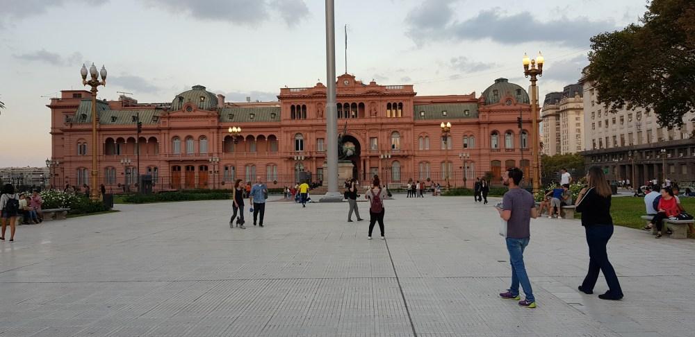 Casa Rosada, sede del poter esecutivo argentino