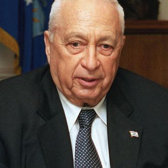 Ariel Sharon, 2002. Fonte: Wikimedia Commons