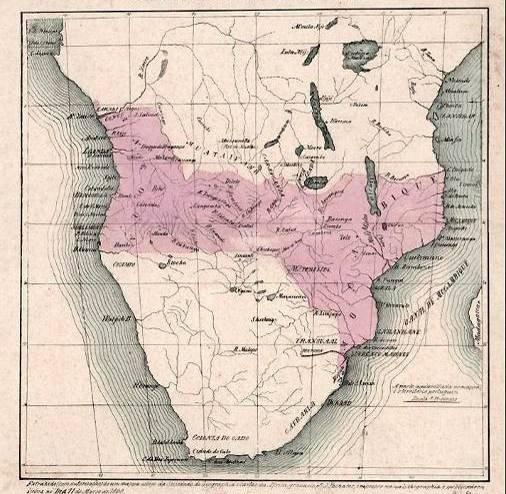 Mappa territori portoghesi in Africa