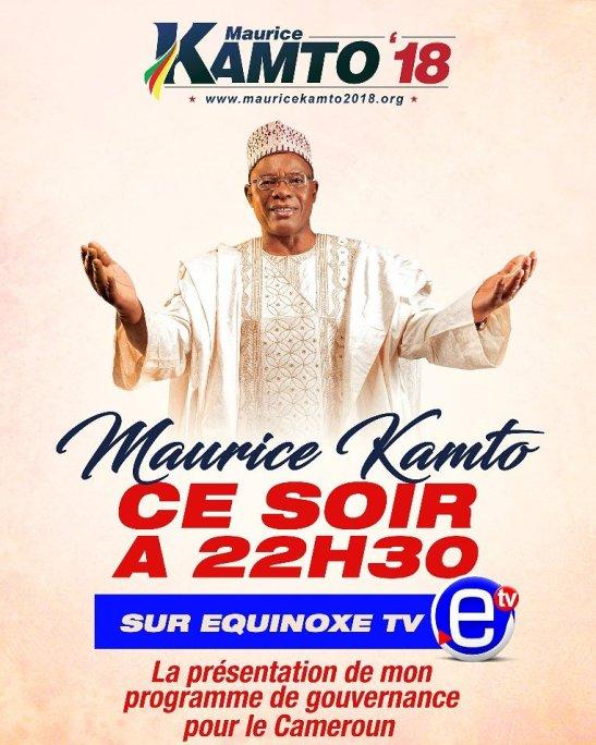 Il candidato Maurice Kamto