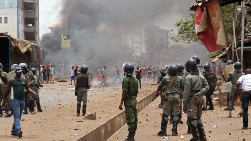 Esercito interviene in Guinea