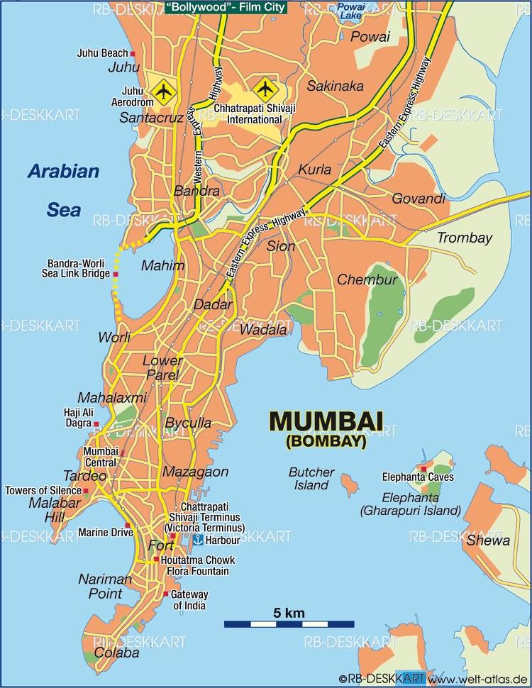 recent mumbai map
