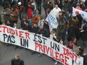La protesta delle università francesi