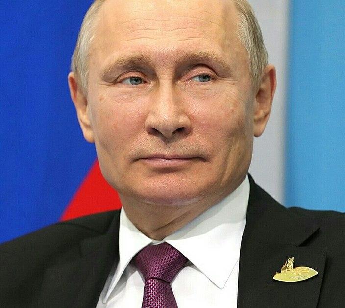 un primo piano di Putin