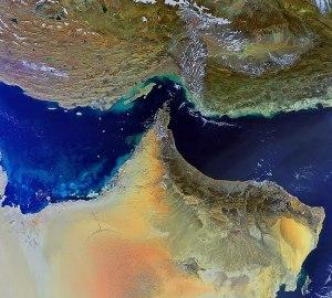 Una foto satellitare del Medio Oriente