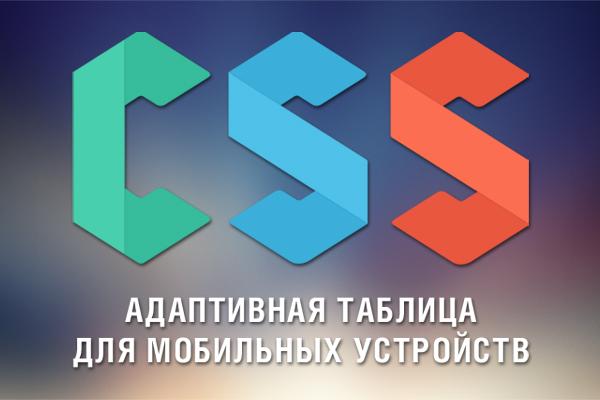 Адаптивная таблица для мобильных устройств на CSS