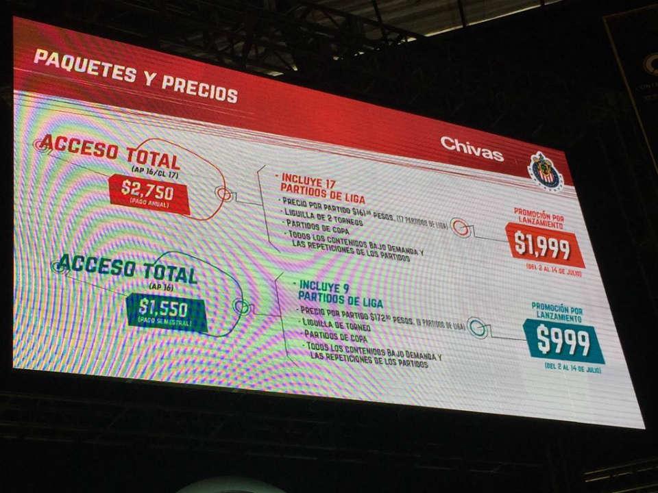 chivas tv costo