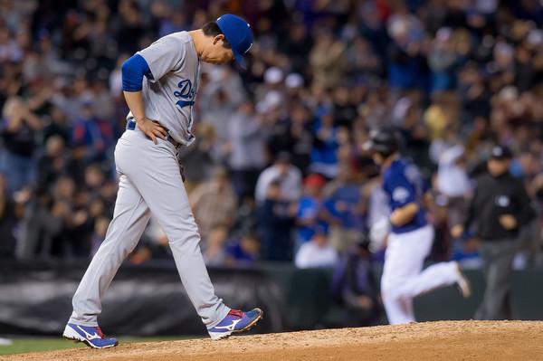 DODGERS MLB LN DEFEATED DERROTA ROCKIES COLORADO MLB