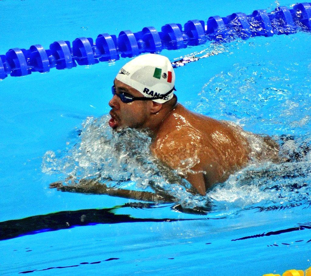 Pedro Rangel Medalla de bronce Natación