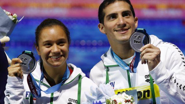 Rommel Pacheco Viviana del Ángel Clavados Mundial Natación