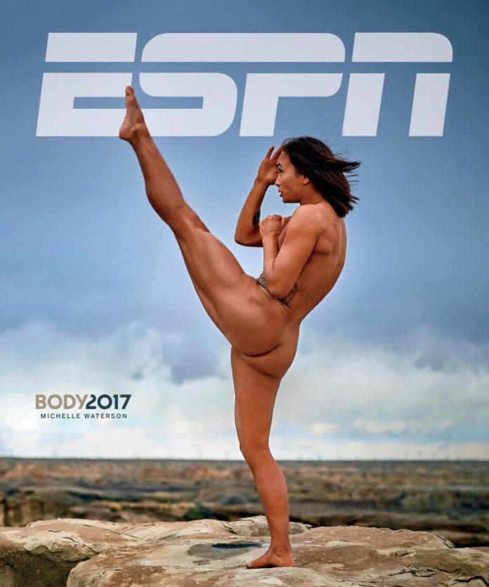 Portada, Michelle Waterson, MMA, UFC, Bosy Issue, desnuda, ESPN, revista, posando