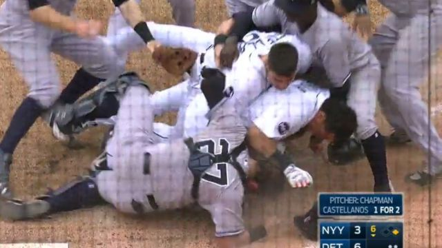 Cabrera golpes video Yankees Detroit Tigers New York