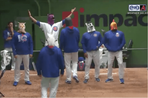 Cubs Diamondbacks pausa por lluvia video retraso