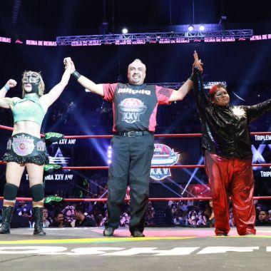 Sexy Star, Rosemary, Triplemanía XXV, Reina de Reinas Triple A, lesión shoot, lucha libre, Lady Shani, Ayako Hamada