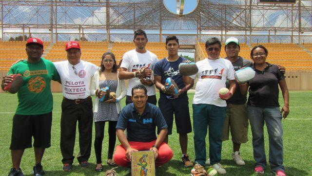 Alebrijes de Oaxaca, pelota mixteca, deporte autóctono, estadio Tecnológico de Oaxaca, Ascenso MX, Monte Albán, exhibición, Juego de Pelota Mixteca