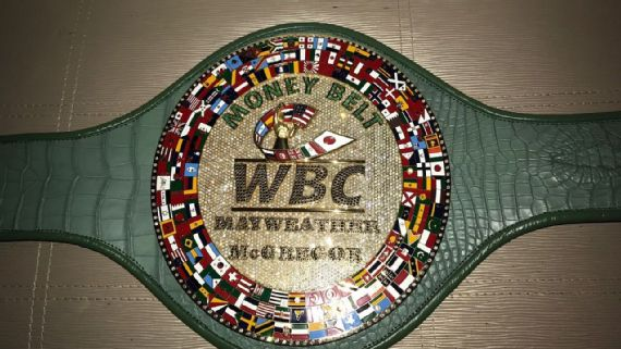 Cinturón dinero pelea Floyd Mayweather Conor McGregor