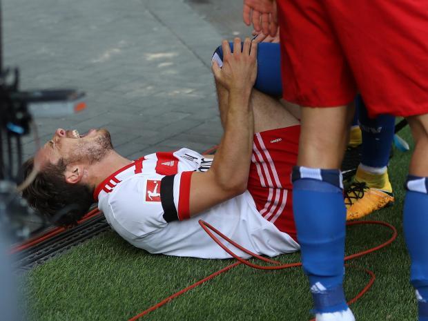 Nicolai Müller Bundesliga Rotura Ligamentos Hamburgo
