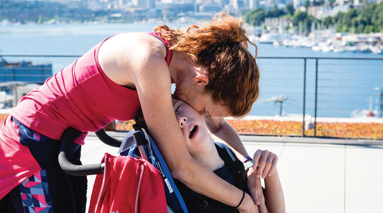 running, silla de ruedas, carrera, mamá e hijo, Cindy Spiva
