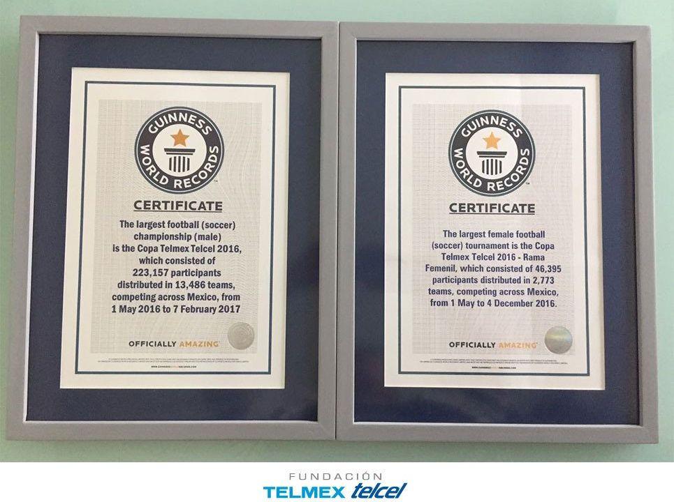Copa Telmex, récord guiness, más grande del mundo, futbol amateur, varonil, femenil