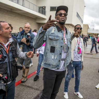 Usaint Bolt, copiloto, Hamilton, Fórmula 1, Gran premio, Estados Unidos