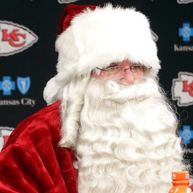 Chiefs Playoffs Andy Reid Santa NFL Kansas City Playoffs