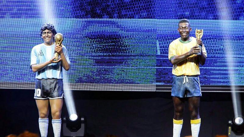 Pele Maradona Estatuas