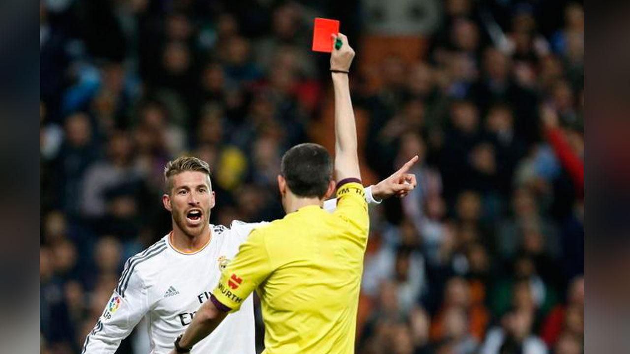 Sergio Ramos, Real Madrid, Rompe récord, expulsiones, 19 tarjetas rojas, supera, Pablo Alfaro y Xavi Aguado, capitán, futbolista indisciplinado
