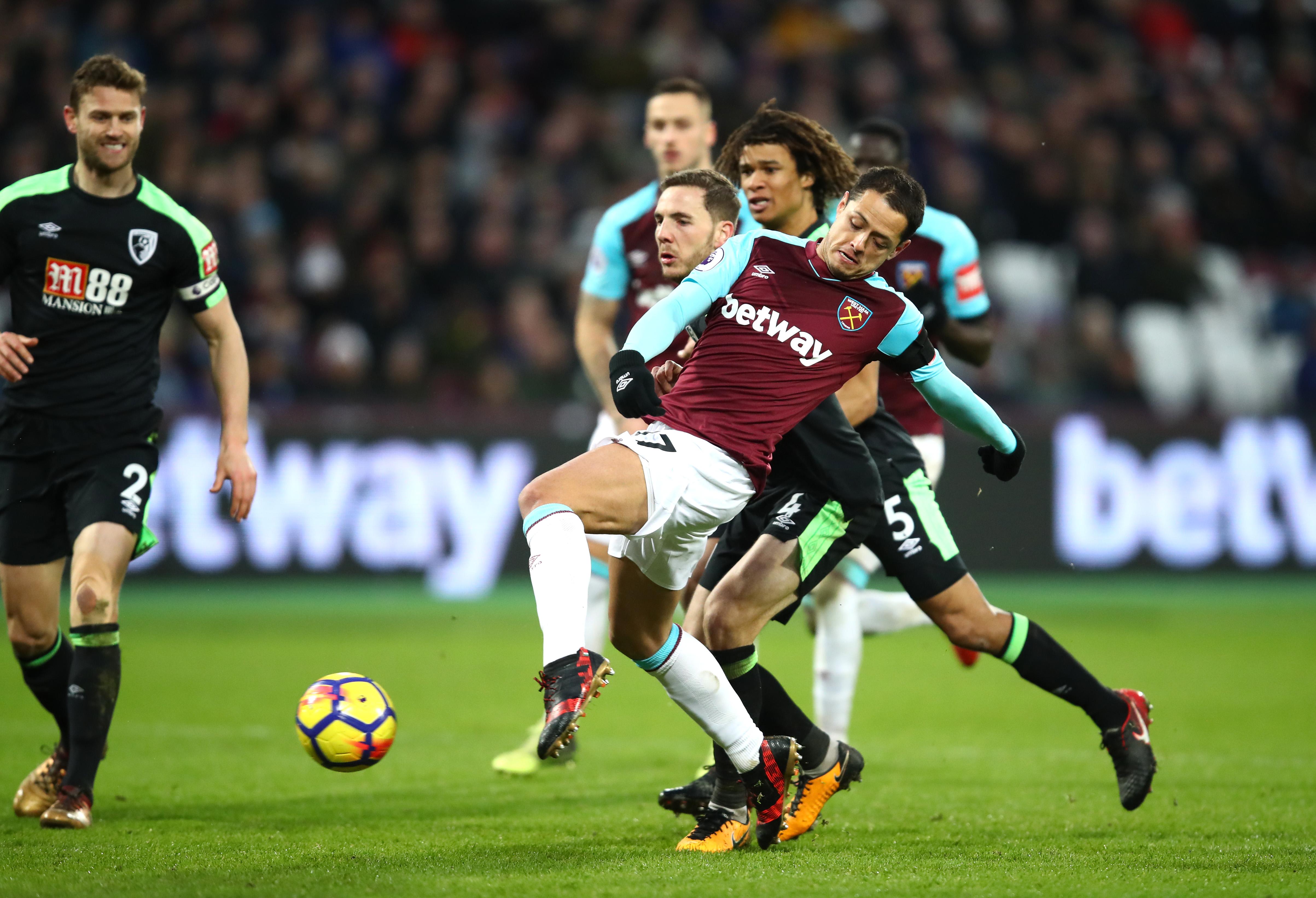 Chicharito West Ham gol Moyes Manchester United