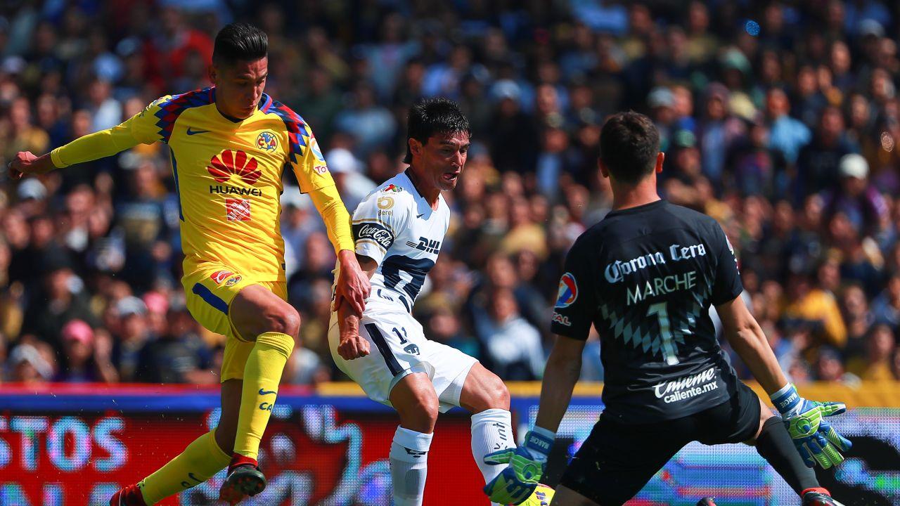 Pumas América resultado goles resumen video Águilas