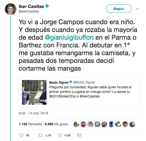 Jorge Campos Inspiración de Iker Casillas