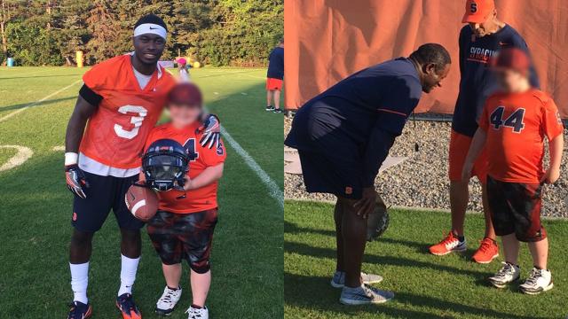 Cáncer Equipo Familia Finge CJ LaFrance Syracuse Americano