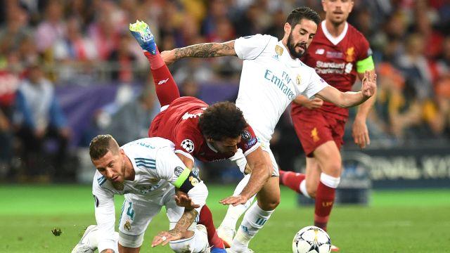Triple A Sergio Ramos Lesión Mohamed Salah