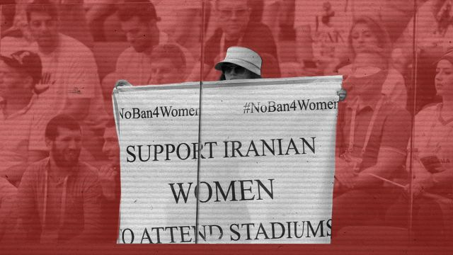 Mujer Iraní Protesta Mundial Rusia 2018 Estadios Rusia