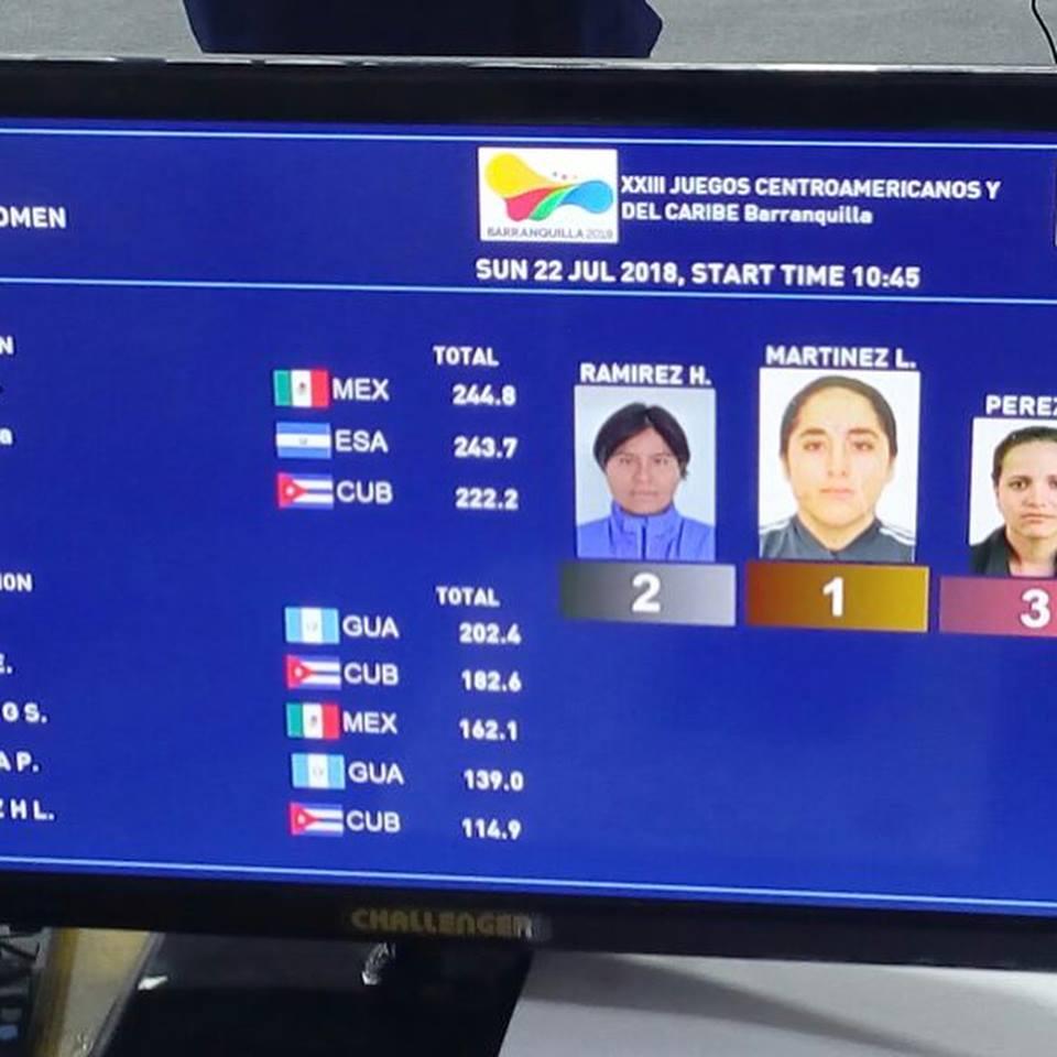 México Juegos Centroamericanos, Barranquilla 2018, Tiro, Gabriela Martínez