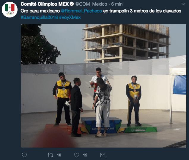 Rommel Pacheco se colgó el segundo oro en clavados para México en los Juegos Centroamericanos, Barranquilla 2018