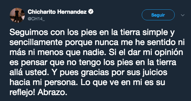 Chicharito, Carlos Albert, Javier Hernández, Pelea Twitter
