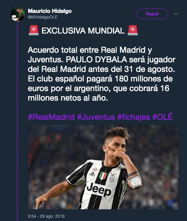 Paulo Dybala, Real Madrid, Fichaje, Juventus