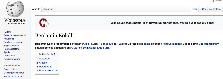 Benjamin Kololli Wikipedia Los Pleyers