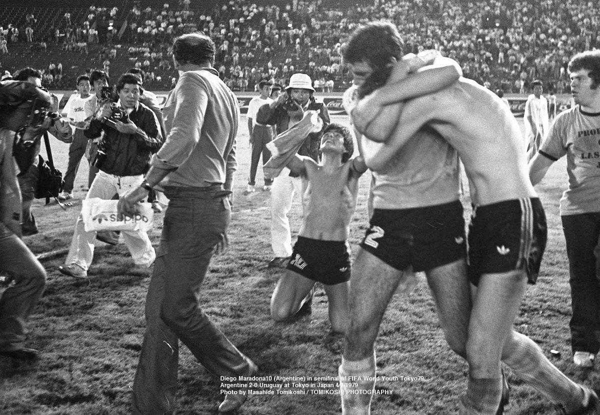Maradona festejo Los Pleyers