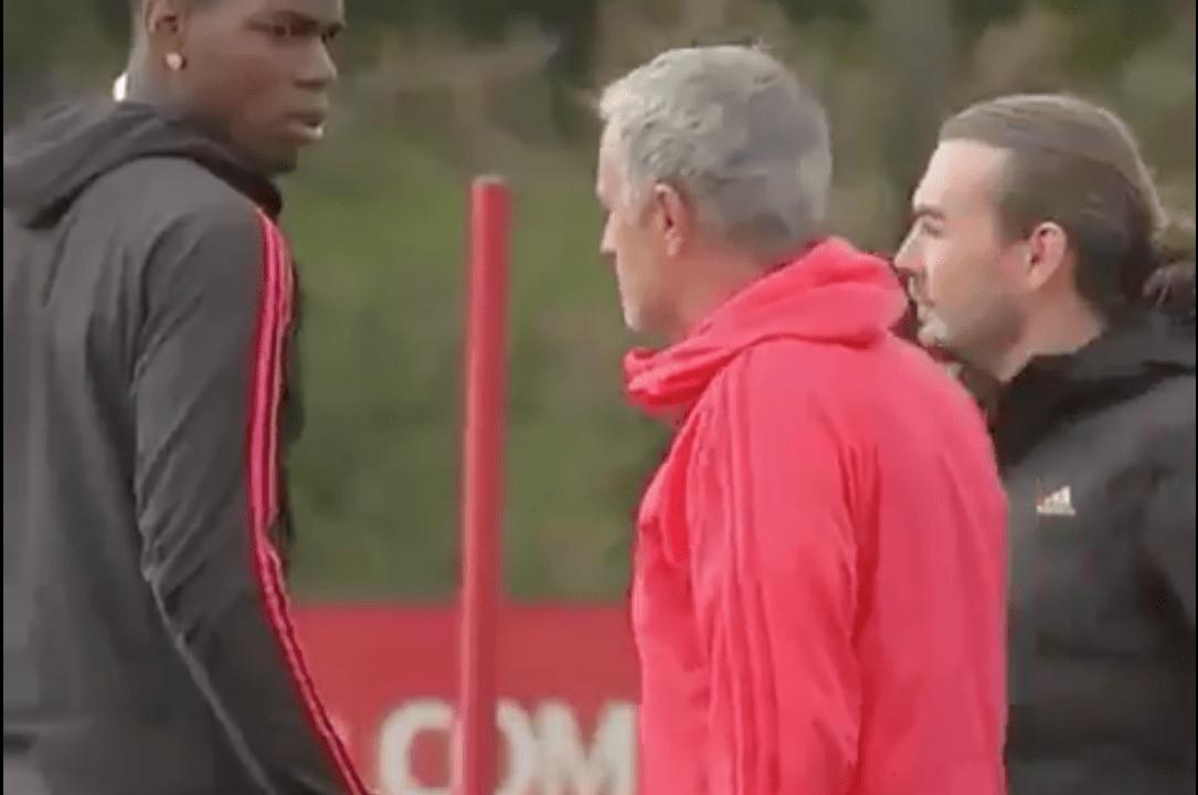Mourinho Paul Pogba Manchester United Entrenamiento Los Pleyers