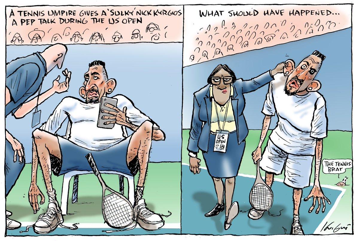 Serena Williams, US Open, Herald Sun, Caricatura