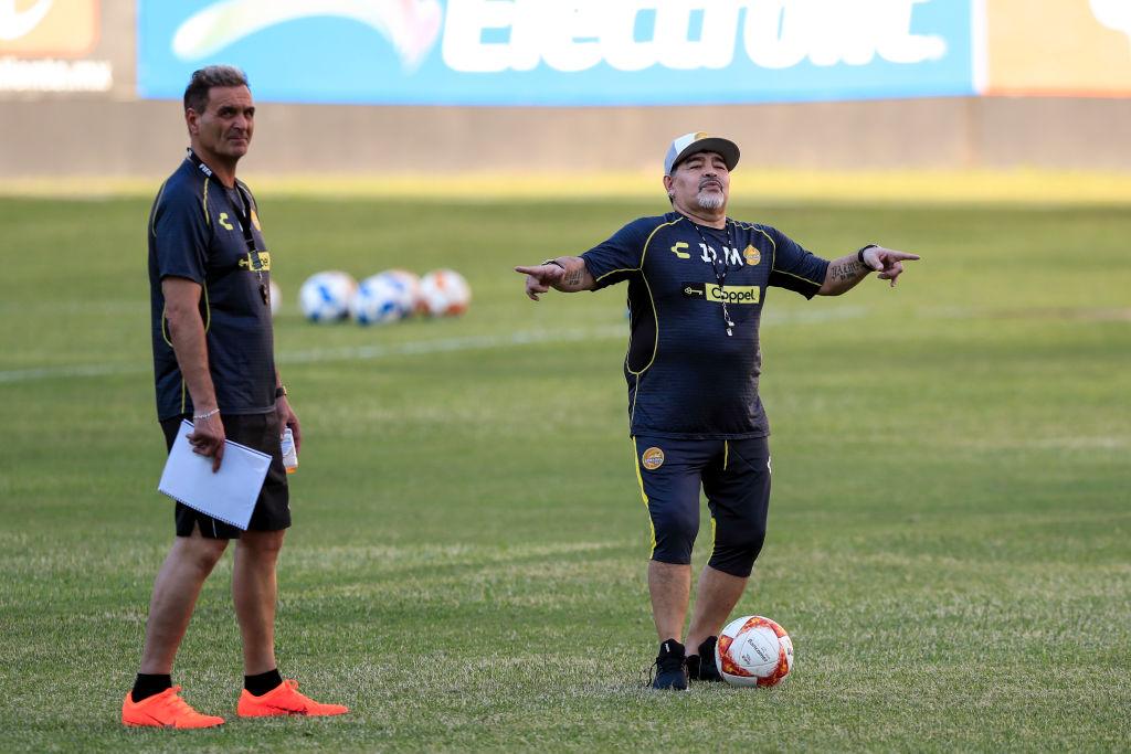 Maradona Entrenamiento Dorados Los Pleyers