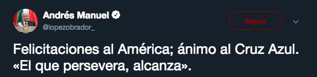 AMLO, América, Cruz Azul, Twitter Los Pleyers