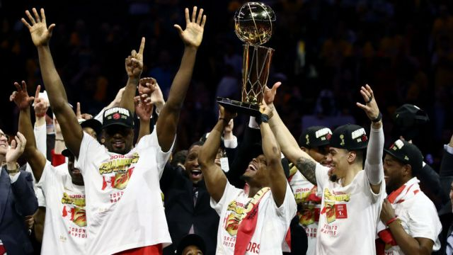 Raptors Campeón Nba Warriors Los Pleyers