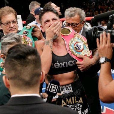25/01/2020. Alejandra Jiménez Antidoping Positivo Boxeadora Los Pleyers, Alejandra Jiménez tras ganar su último título.