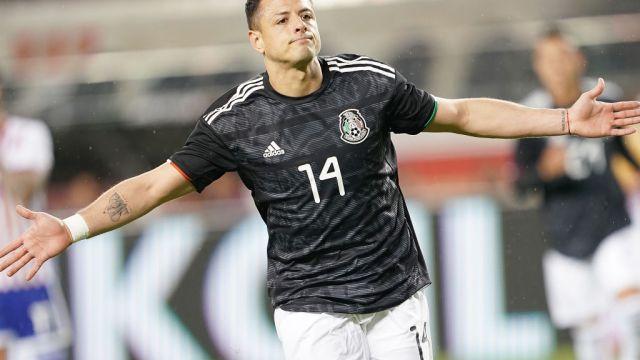 26/03/2019. Chicharito Galaxy Mls Refuerzo Los Pleyers, Javier Hernández festeja un gol con Selección Mexicana.