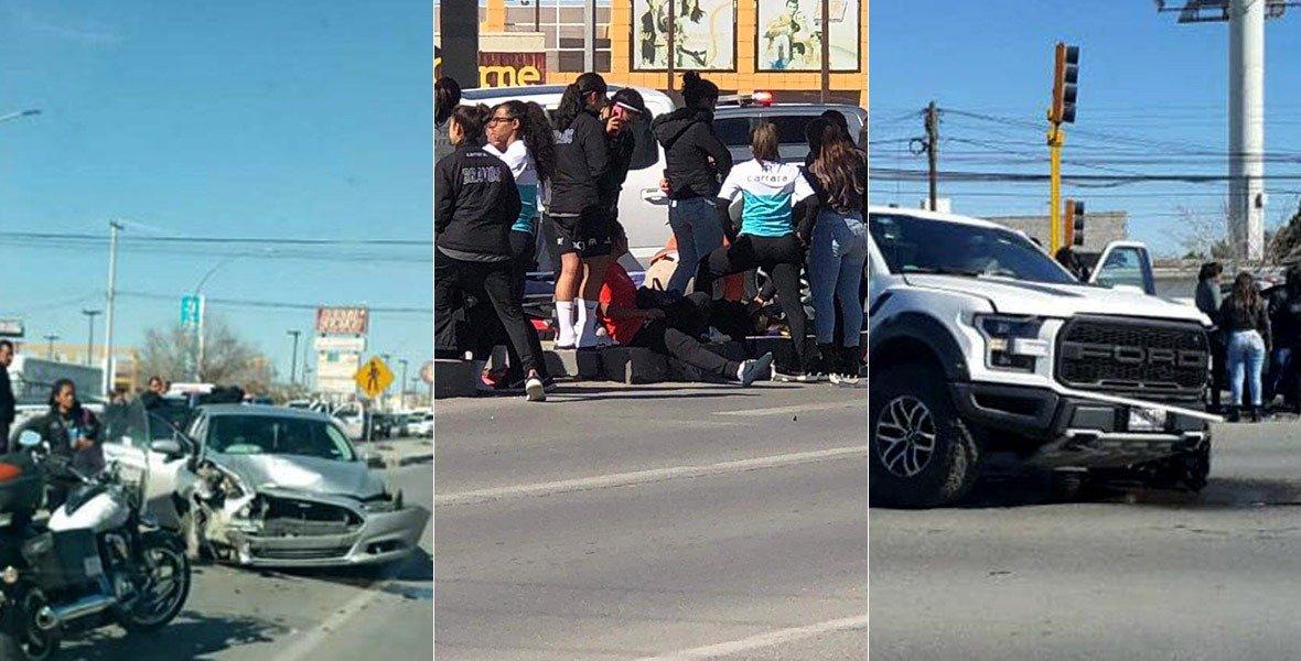 Seis jugadoras del FC Juárez Femenil sufren un accidente automovilístico